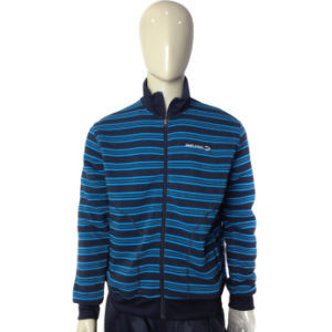 High Quality Fashion Stripe Zip up Fleece Jacket pictures & photos