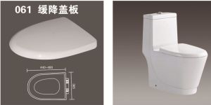 Plastic Toilet Seat with Slow Close 061 pictures & photos