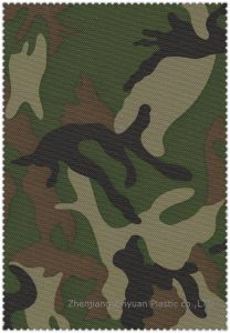 Camouflage Printed PVC Coated Polyester Fabric - 806