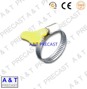 China Manufacturer Yellow Hose Clamps Stainless Steel Hose Clips pictures & photos