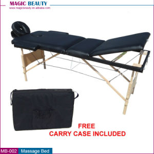 Factory Sale MB-001 2 Section Folding Wood Massage Bed pictures & photos