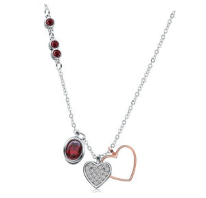 Fashion Jewelry 925 Silver Jewelry Heart Necklace pictures & photos