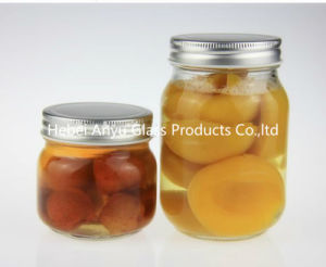 500ml 1000ml Round Mason Glass Food Jars with Silver Lids pictures & photos