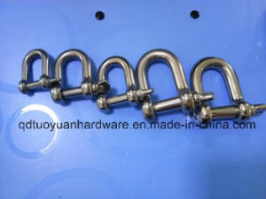 Rigging Hardware European Type Screw Pin Stainless Steel Dee Shackle pictures & photos