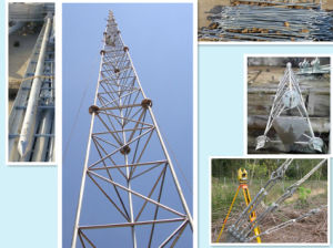 Steel Galvanized Telecom Guyed Tower pictures & photos