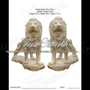 Desert Gold Lion for Home Decoration Ma-223