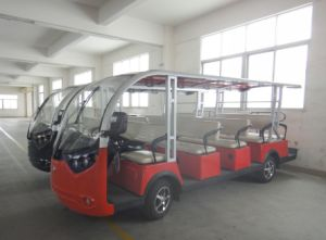 Red Color 14 Seater Electric Sightseeing Bus for Sale pictures & photos