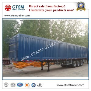 Chinese Manufacturer Tri-Axle Dry Van/Box Semi Truck Trailer pictures & photos