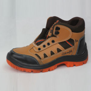 Brown Genuine Leather Safety Shoes pictures & photos