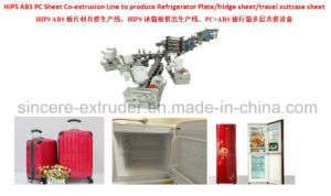 ABS HIPS Extrusion Line Co-Extrusion Machine for Productiontravel Suitcase|Refrigerator Panels|Single-Layer or Multi-Layer Plate Machine pictures & photos