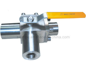 3 Way Type Forged Steel Ball Valve