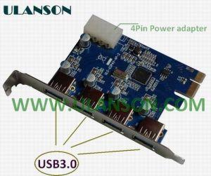 PCI/E to 4port USB3.0 Card (ULS-P3U4)