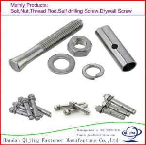 White Zinc Anchor Expansion Bolts Concrete Drop in Anchor Made in China pictures & photos