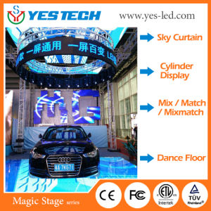 Yestech Magic Stage Indoor/Outdoor Large Flexible LED Display Board for Stage and Rental pictures & photos