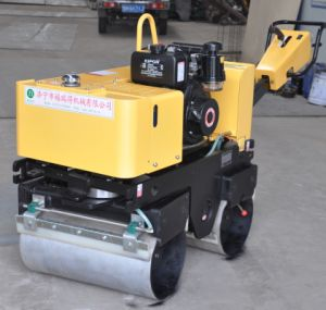 Walk Behind Double Drum Soil Compactor for Sale pictures & photos