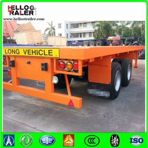 Chinese 2 Axle Container Flatbed Semi Trailer 20 Feet Container Trailer pictures & photos