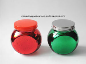 Plating Colors Glass Jar/Candy Jar /Kitchen Glass Bottle pictures & photos