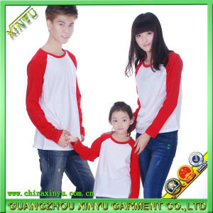 Raglan Long Sleeves T Shirts Family Wear Clothing pictures & photos