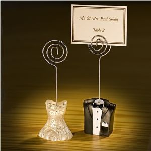 Bride and Groom Place Card Holders Centerpieces Wedding Favors Party Gift Wedding Accessories Supplies Souvenir Wedding Giveaway
