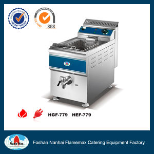 Stainless Steel 1-Tank 1-Basket Gas Chip Fryer (HGF-779) pictures & photos