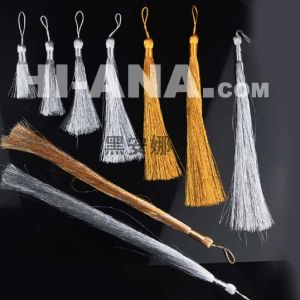 Metallic Yarn Tassel Fringe for Curtain pictures & photos