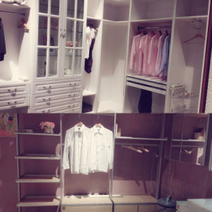 Withe Soft-Close Drawer Pull out Wardrobe with Light and Shoes Basket pictures & photos