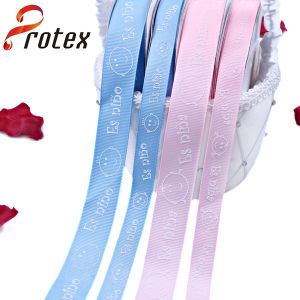 Puffy Printed Ribbon in Color Pink and Blue pictures & photos