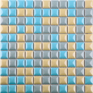 Colorful Square Ceramic Mosaic for Swimming Pool in China