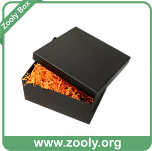 Black Square Cardboard Paper Gift Box with Lid pictures & photos