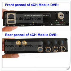 1080P 3G 4 Channel Bus DVR Black Box for Vehicle & Car & Truck & Taxi CCTV Monitoring System pictures & photos