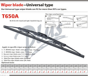 Frame Wiper Windshield Wiper Blade T650A pictures & photos