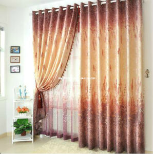 Hot Sale Jacquard Window Grommet Panel / Curtain (SZSMEJ 018)