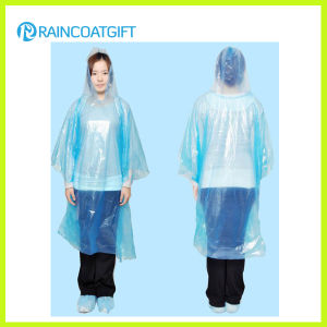 Blue Color Full Length Disposbale PE Raincoat pictures & photos
