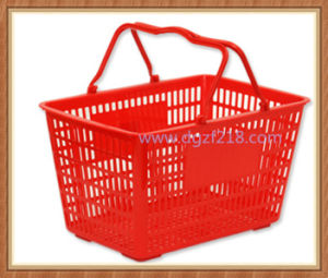 28L Small Cheap Plastic Portable Storage Baskets for Shopping pictures & photos