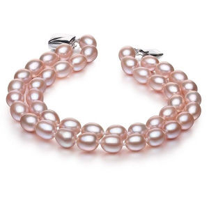 6-7mm Double Strands Natural Cultured Pearl Bracelet, Lavender pictures & photos