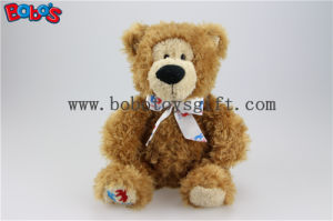 "10"" Brown Plush Customized Heartkids Teddy Bear Animal with Custom Printing Logo Ribbon pictures & photos"