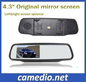 Universal Clip on LCD Original Car Rear View Mirror with 4.3 Inch Monitor pictures & photos