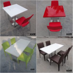 Modern Solid Surface Stone Dining Tables pictures & photos