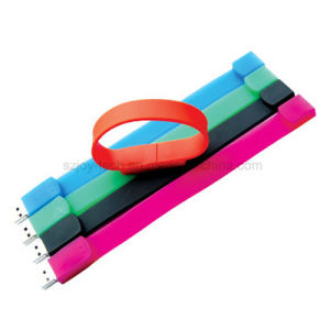 Silicone Bracelet USB Flash Disk for Promotion pictures & photos