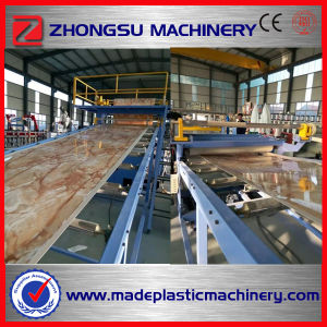 MDF Board Laminate High Gloss Marble PVC Thin Plastic Sheet Extrusion Machine pictures & photos