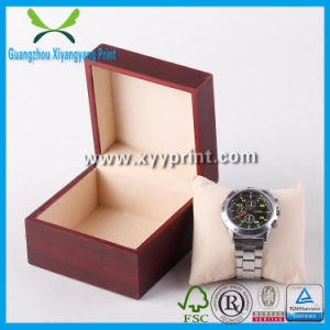 Custom PU Leather Wooden Pocket Watch Box with Inserts pictures & photos