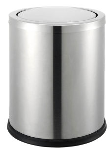 High Quality Brush Stainless Steel Waste Bin pictures & photos
