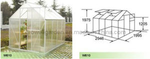 Polycarbonate Panel and Aluminium Hobby Greenhouse (W610) pictures & photos