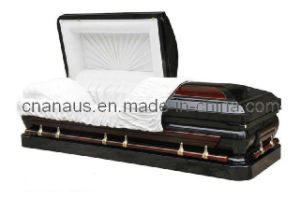 US Style 18ga Steel/Solid Cherry Casket (MW001H) pictures & photos