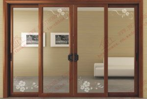 Top Grade Aluminum Flowered Pattern Sliding Door (BHA-DF08) pictures & photos
