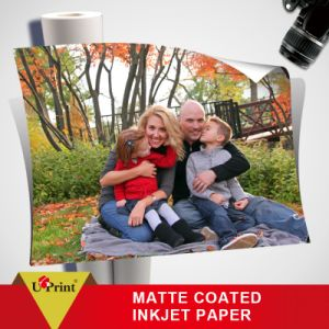 Professional Supplier 128g 180g Cast Coated Matte Glossy Inkjet Paper pictures & photos