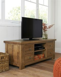 Hot Sale! ! ! Oak TV Cabinet with Showcase Shabby Chic TV Cabinet pictures & photos