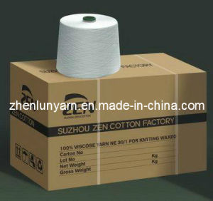 100% Compact Siro Viscose Yarn Ne 28/1* pictures & photos