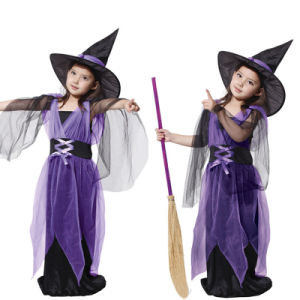 Children Witch Costume for Performance Cc004