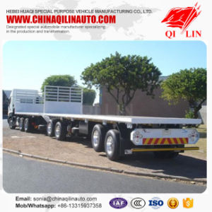 2 Axle Flat Deck Container Truck Surperlink Semi Trailer pictures & photos